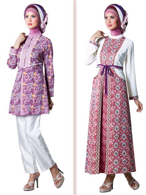 gambar model baju batik modern 10 contoh baju muslim batik modern 2015