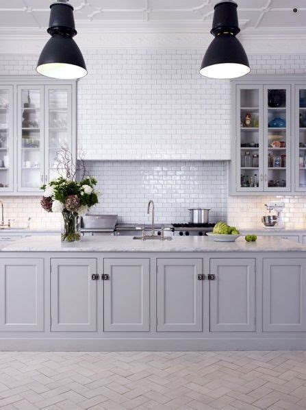 Light Gray Cabinets Kitchen Light Grey Cabinet Kitchens Beautiful Home Pinterest Grey Subway Tiles Grey Cabinets And Grey