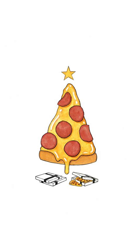 funny pizza christmas tree android wallpapers