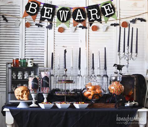 spooky halloween party set