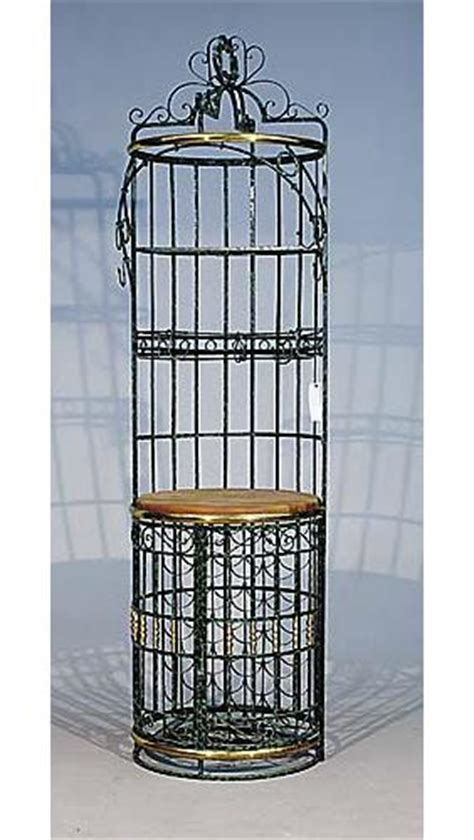 Bird Cage Wine Rack by 593 Wrought Iron Wine Rack And Bar Lot 593