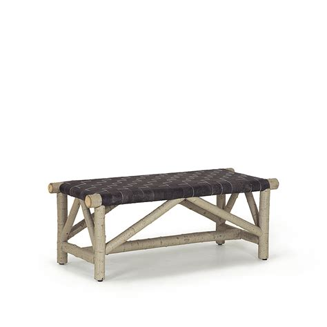 armchair racer artarmon rustic leather bench rustic woven leather bench 1147