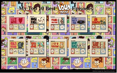 best house episodes top 10 best loud house episodes august 2017 by cynicthecritic on deviantart