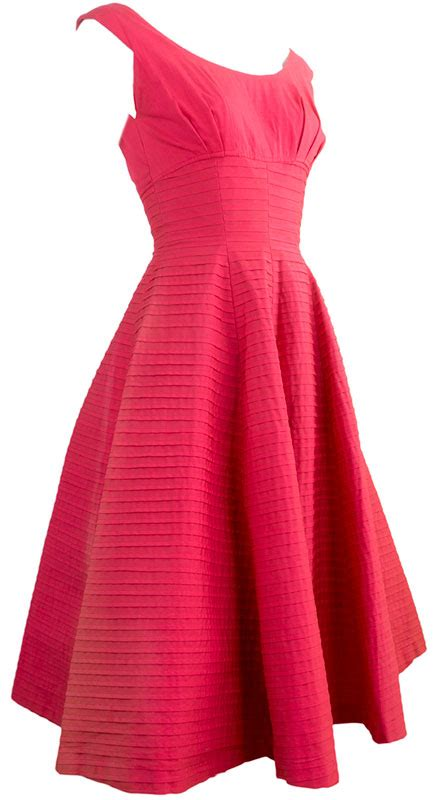 Partying Almost Busts by Suzi Perette Pink Shelf Bust Dress Ballyhoovintage