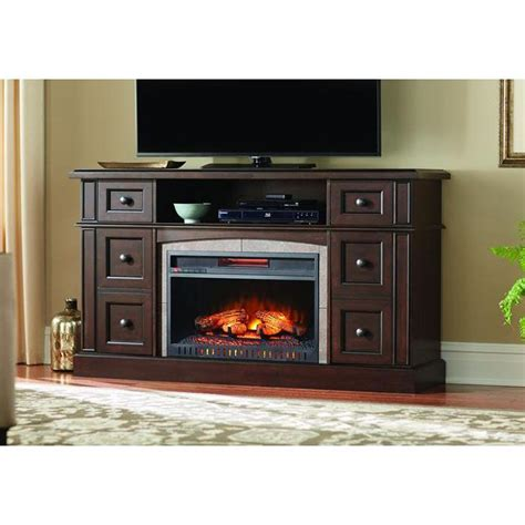 Pictures Of Electric Fireplaces In Homes by Home Decorators Collection Bellevue Park 59 In Media Console Infrared Electric Fireplace In