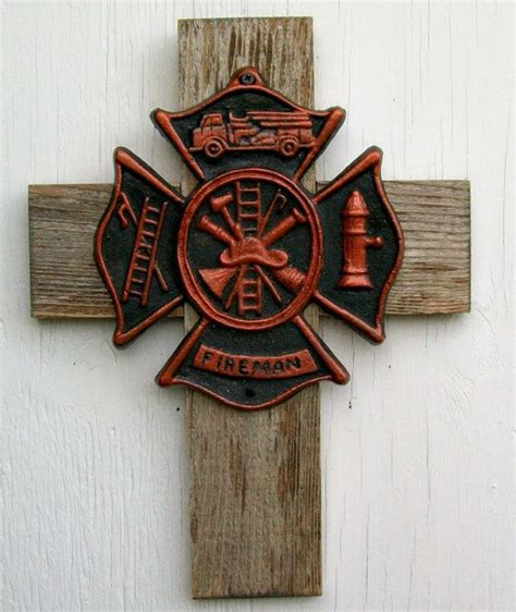 fireman home decor fireman maltese cross firefighter gift wall home decor