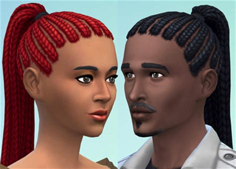 sims 4 dreads cc ponytail dreads by esmeralda at mod the sims via sims 4