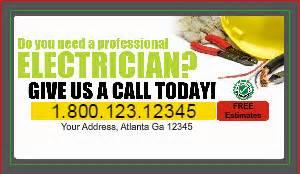 electrician business card designs designsnprint