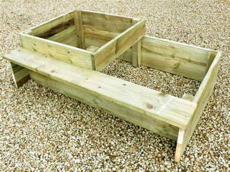 raised garden bed with bench seating 2 tier raised vegetable bed kit with attached garden bench