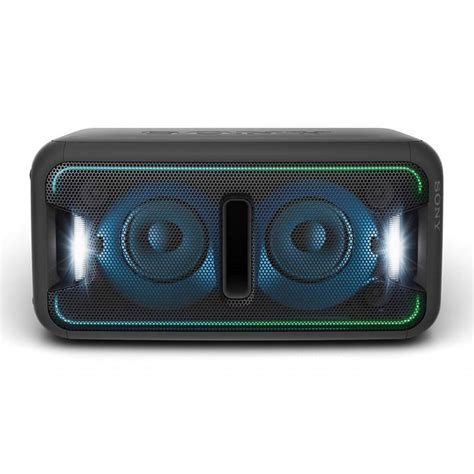 sony light up speaker sony gtk xb7 light up portable speaker system with bass