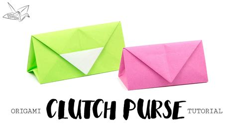 Origami Paper Purse - paper bag origami wallet origami maker easy
