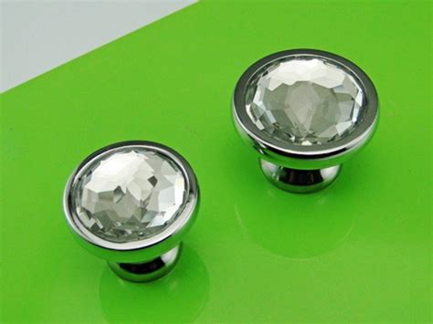 kitchen cabinets handles or knobs chrome glass crystal kitchen cabinet drawer furniture