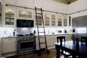 Ladder Kitchen Cabinets Butcher Shop Rehab Vintage Library Ladders Two In Stock