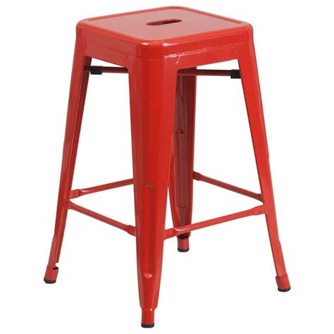 red counter height bar stools red counter height tolix stool 24 tablebasedepot