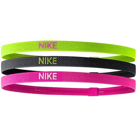 black pink yellow nike elastic hairbands pack of 3 yellow black pink