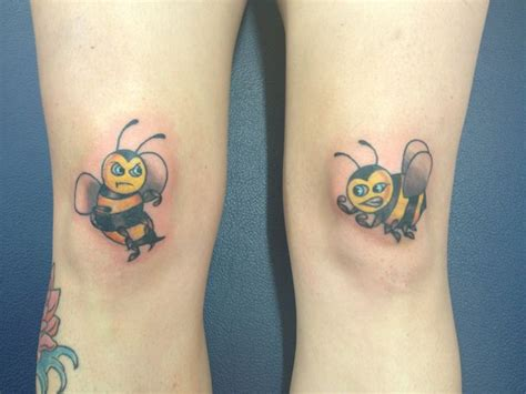 bees knees tattoo bees knees p b o d y a r t bees ps and
