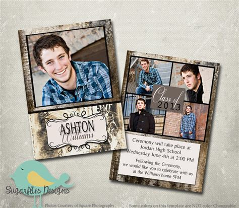 graduation announcement templates graduation announcement photoshop template senior graduation