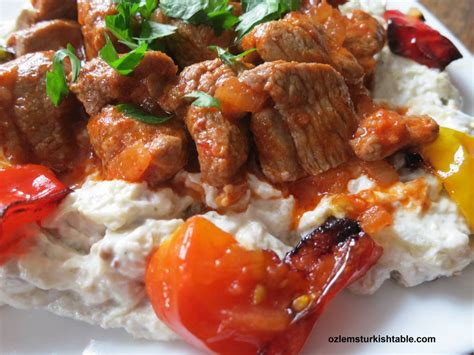 ottoman kebab recipe ali nazik kebab lamb stew over smoked eggplant and