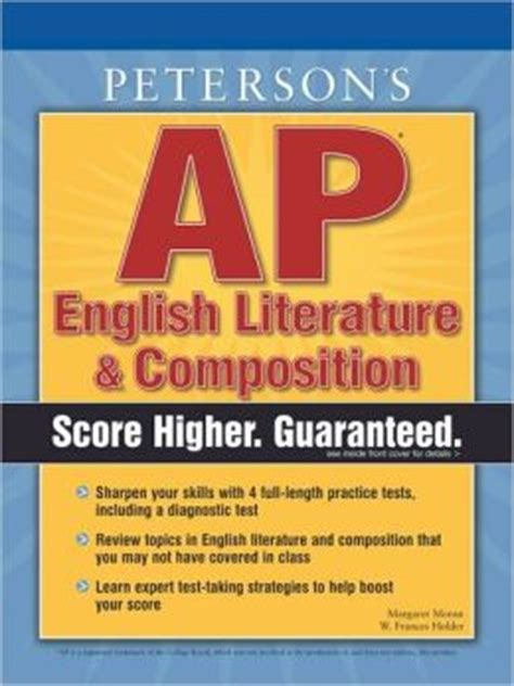 first biography in english literature peterson s ap english literature and composition by