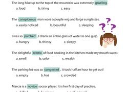 Using Context Clues To Determine Word Meaning Worksheets