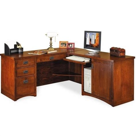 martin furniture mission pasadena rhf l shape wood desk