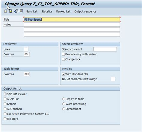 query layout design sap how to create a vendors top spend report
