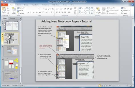 Animated Notepad Page Turn Effect For Powerpoint Presentations Page Turning Effect In Powerpoint