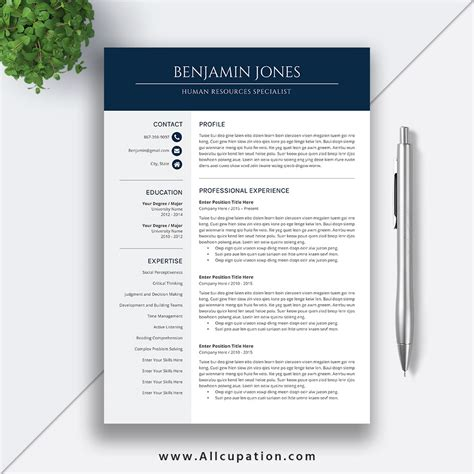 Resume Template Access by Ms Office Resume Template Microsoft Resume Template Word