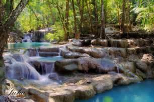 Erawan national park is gelegen in de provincie kanchanaburi