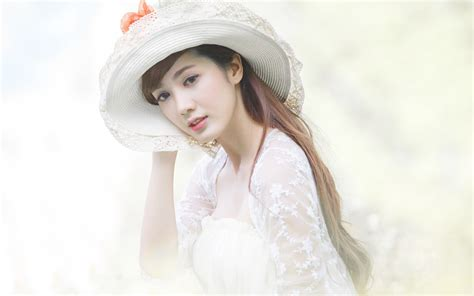 wallpaper girl with hat asian girl with a hat wallpaper girls wallpaper better