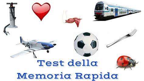 test memoria test della memoria rapida