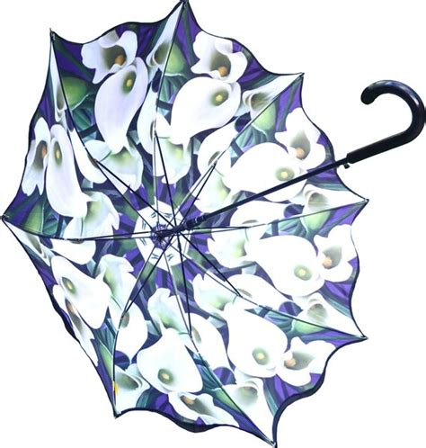 Umbrella Pattern Inside | double layer umbrella with calla lily floral pattern