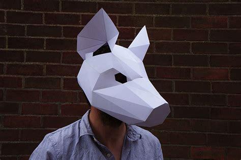 How To Make Cara Mask With Paper - m 225 scaras geom 233 tricas de papel por steve wintercroft