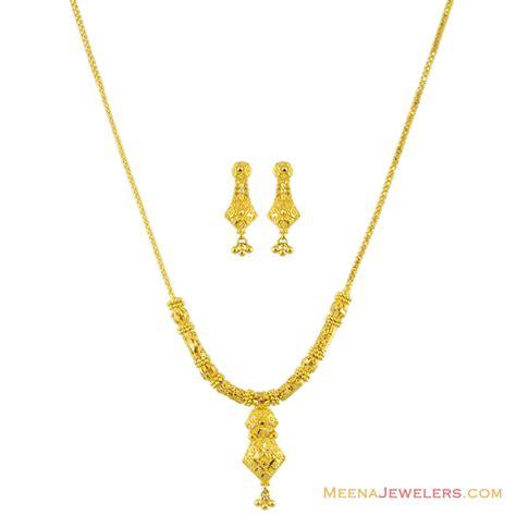 Light Necklace by Indian Gold Necklace Set 22k Stls11591 22kt Gold
