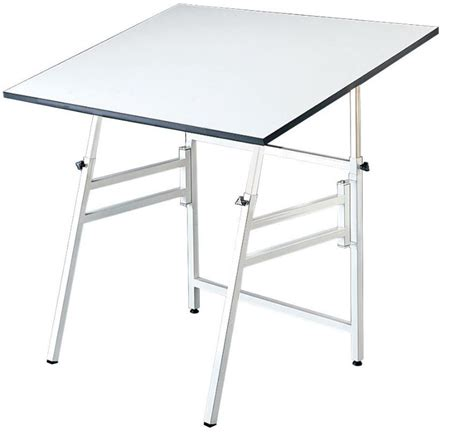 Foldable Drafting Table 31x42 White Professional Folding Adjustable Drafting Table Tilts 0 45 176