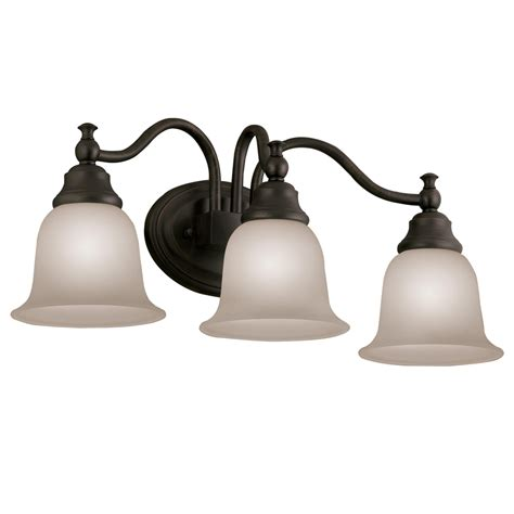 bronze bathroom lights shop portfolio 3 light brandy chase collection oil rubbed bronze bathroom vanity light