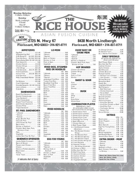 the rice house business the rice house places