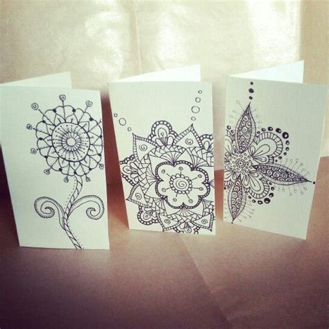 doodle cards doodle greeting cards 97 best my zentangle doodle images