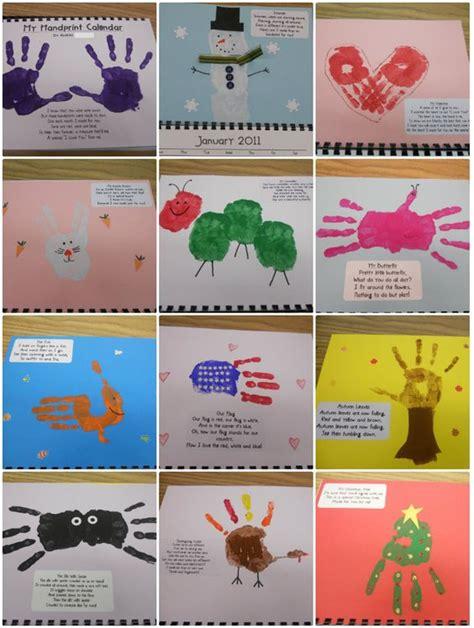 handprint calendar template and footprint ideas the best collection