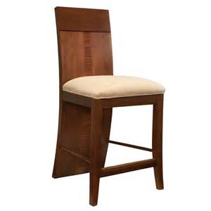 milan wood counter height stools in medium brown by