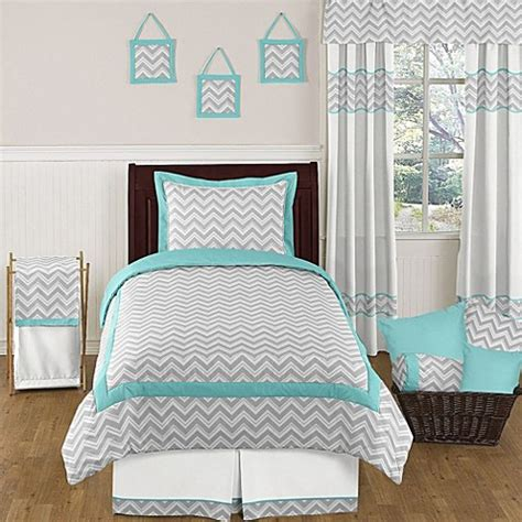zig zag bedding sweet jojo designs zig zag bedding collection in turquoise grey buybuy baby