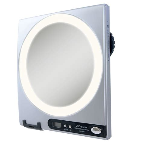 fogless shower mirror with light and magnification zadro fogless led lighted shower mirror in silver z850