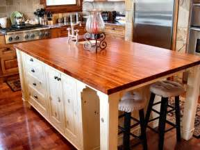 Wood Island Kitchen by Mesquite Custom Wood Countertops Butcher Block