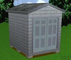 storage shed plans package blueprints material list