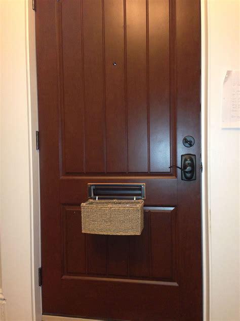 mail slot basket apartment decor mail slots