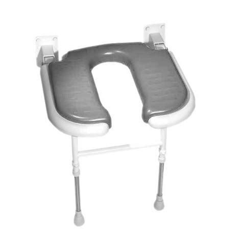 wall mounted padded shower bench wall mounted fold up horseshoe padded shower seat with