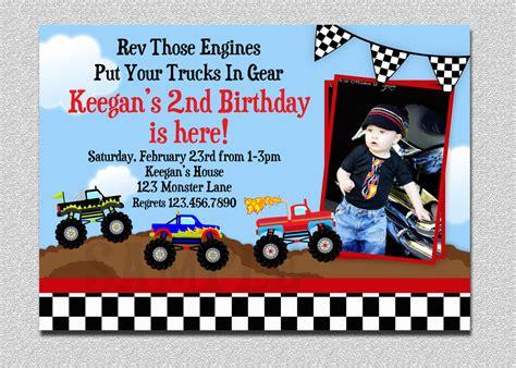 printable monster jam birthday invitations monster truck birthday invitations template best
