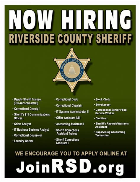 Riverside County Office by Riverside County Sheriff S Department Is Now Hiring