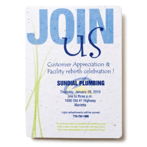 Sundial Plumbing by Seed Paper Invitations Personalized Seed Embedded Invites