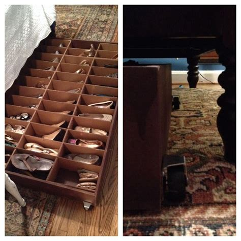 shoe underbed storage solution for any shoe collection bed shoe